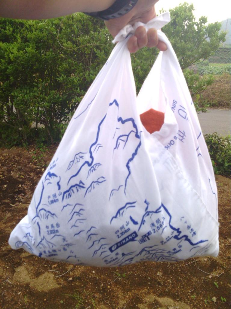 SINANOオリジナル手ぬぐいには、長野県の山々がデザインされています。
